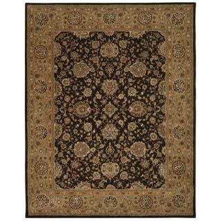 Nourison 2000 Chocolate Brown Wool Area Rug (7'9 x 9'9)