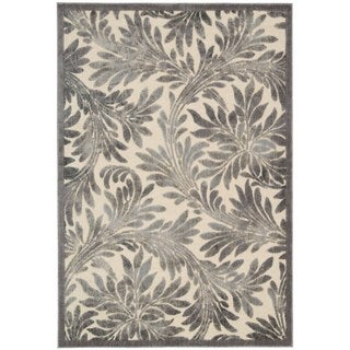 Graphic Illusions Abstract Ivory/ Silver Area Rug (3'6 x 5'6)