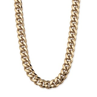 Neno Buscotti Gold Overlay Men's Curb-link Necklace
