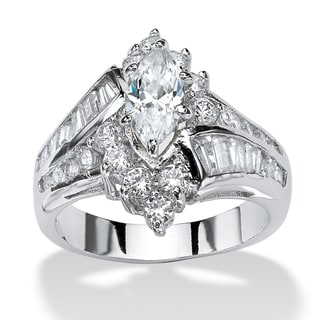 Ultimate Marquise and Round-cut Cubic Zirconia Ring