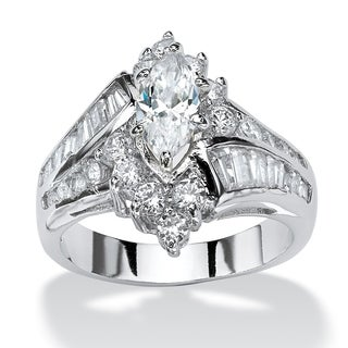 PalmBeach Marquise and Round-cut Cubic Zirconia Ring Glam CZ