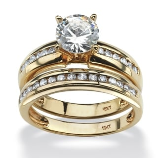 Ultimate 10k Yellow Gold Cubic Zirconia Bridal Ring Set