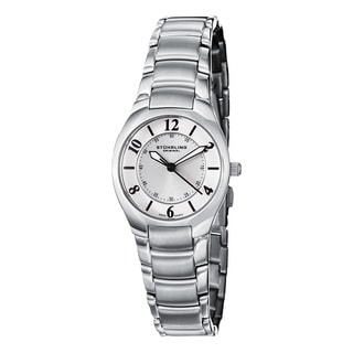 Stuhrling Original Woman's Lady Regalia Swiss Quartz Stainless Steel Link Bracelet