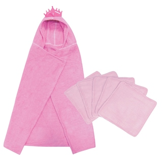 Trend Lab 6-piece Princess Hooded Towel and Wash Kit