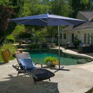 Monterey Outdoor 10-foot Banana Sun Canopy by Christopher Knight Home, Base Included