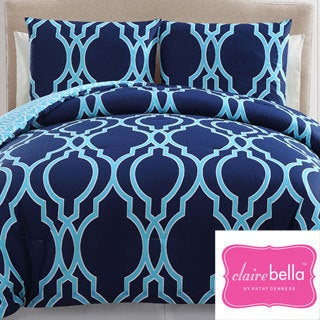 Clairebella Cotton Reversible 3-piece Comforter Set
