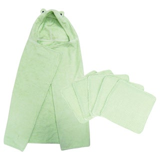 Trend Lab 6-piece Frog Hooded Towel and Wash Kit