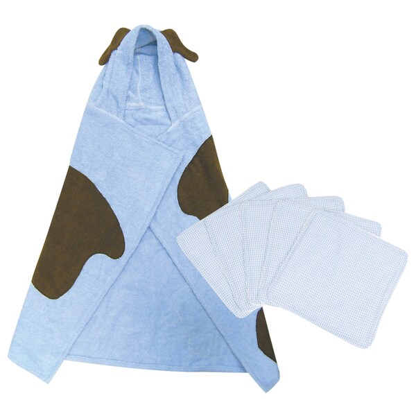 Trend Lab 6-piece Puppy Hooded Towel and Wash Kit