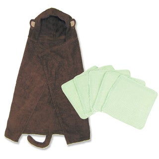 Trend Lab 6-piece Monkey Hooded Towel and Wash Kit