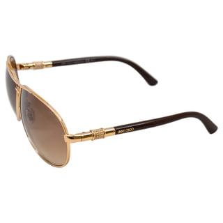 Jimmy Choo Women's 'Walde Rose Gold Aviator Sunglasses