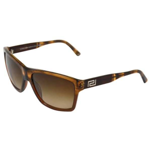 Versace Men's 'VE4216 965/13' Striped Brown Fashion Sunglasses