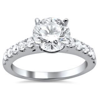 18k White Gold Enhanced 1 1/4ct TDW Round Diamond Engagement Ring (G-H, SI1-SI2)