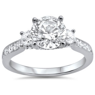 Noori 18k White Gold 1 1/3ct TDW Round Diamond Engagement Ring (G-H, SI1-SI2)