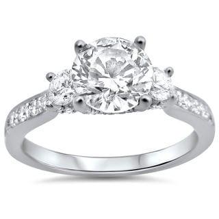 Noori 18k White Gold 1 1/3ct TDW Round Diamond Engagement Ring (G-H, SI1-SI2)
