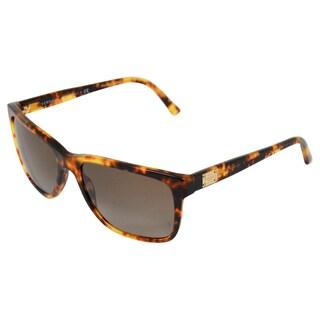 Versace Women's Stripped Havana Sunglasses