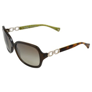 Coach Women's 'Natasha HC8018 50368E' Dark Olive Sunglasses