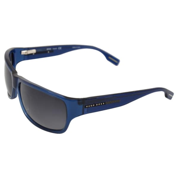 Hugo Boss Men's 'Boss 0423/P/S 01NL' Blue Streamlined Sunglasses
