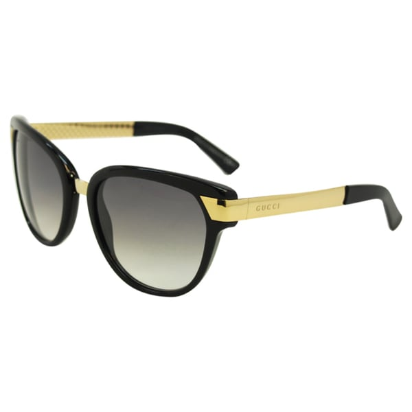 Gucci Women's 'GG 3651/S ANWYR' Black and Gold Sunglasses 12923329