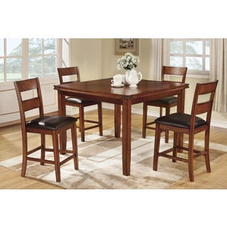 Remich 5-piece Oak Finish Counter Height Dining Set