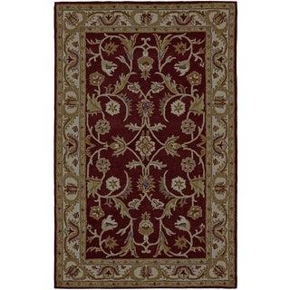 Paragon Burgundy/ Ivory Wool Rug (3'6 x 5'6)