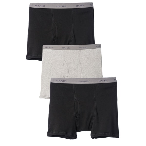 Hanes Men's Big and Tall Underwear Boxer Briefs (Pack of 3)