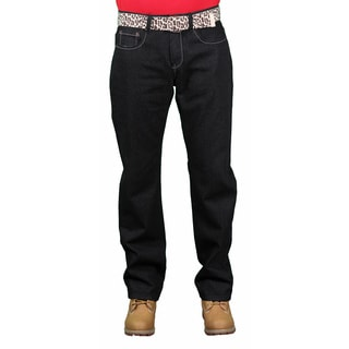 Brooklyn Xpress Men's Belted Fashion Denim Jean