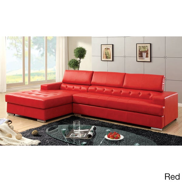 Massa Sectional Sofa Upholstered in Bonded Leather