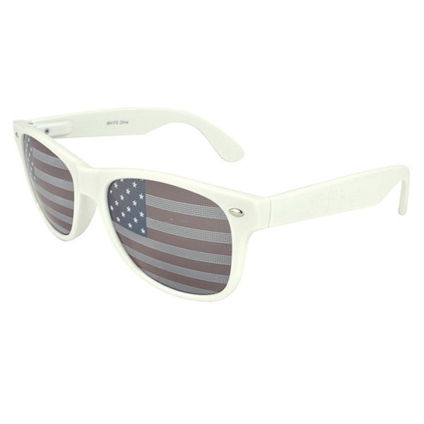 EPIC Eyewear White and Patriotic Retro Sunglasses