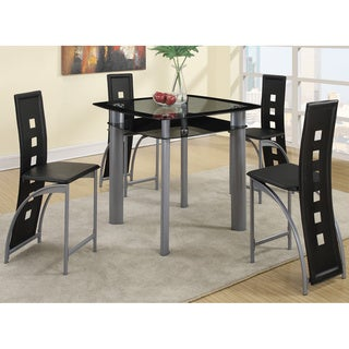 Orsha 5-piece Counter Height Dining Set in Metal and Glass