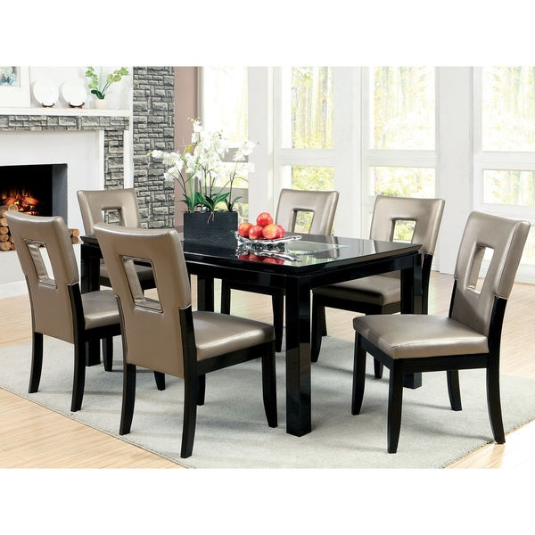 Amora Contemporary 7-piece High Gloss Lacquer Dining Set 12923461