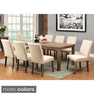 Pirot 9-piece Natural Wood Design Dining Set