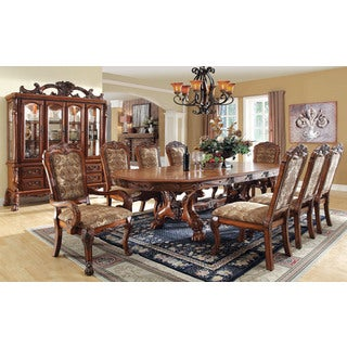 Celje Elegant 9-piece Antique Oak Finish Dining Set