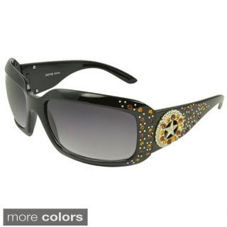 EPIC Eyewear Women's 'Jocelyn' Rhinestone-studded Shield Sunglasses