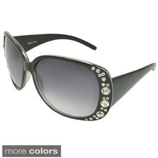 EPIC Eyewear Women's 'Carolyn' Rhinestone Accent Shield Sunglasses