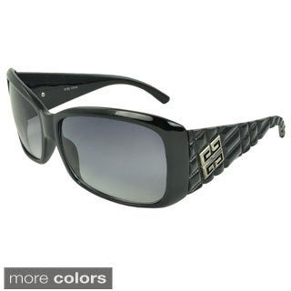 EPIC Eyewear Women's 'Ileen' Medallion Accent Shield Sunglasses