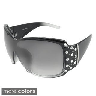 EPIC Eyewear Women's 'Lillian' Rhinestone-accent Shield Sunglasses