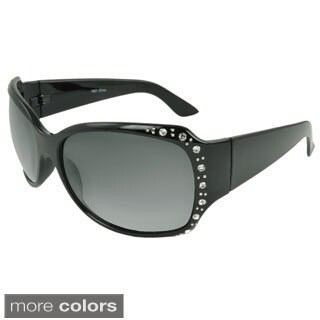 EPIC Eyewear Women's 'Marian' Rhinestone-detailed Shield Sunglasses