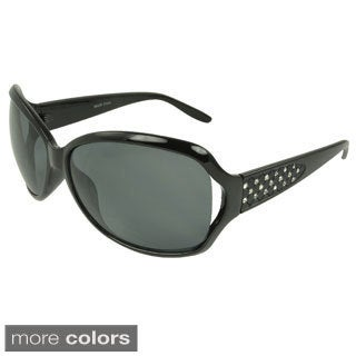 EPIC Eyewear Women's 'Sharan' Rhinestone-accent Shield Sunglasses