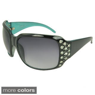 EPIC Eyewear Women's 'Linden' Rhineston-detailed Shield Sunglasses