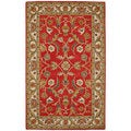 Paragon Rust/ Ivory Wool Rug (5' x 8')
