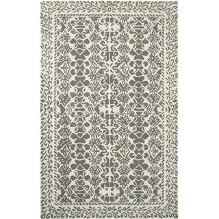 Paragon Ivory/ Grey Wool Rug (5' x 8')