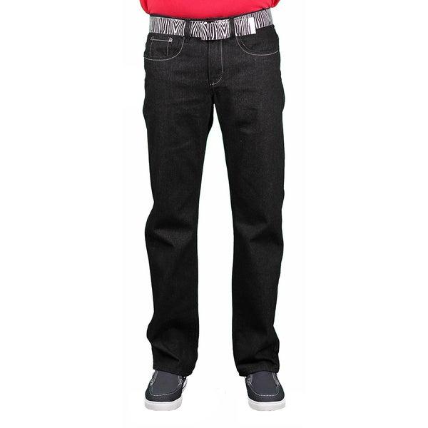 Brooklyn Xpress Men's Belted Fashion Denim Jean