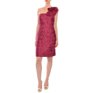 Mikael Aghal Charming Woven Silk Chiffon Evening Cocktail Dress