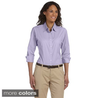 Women's Three-quarter Sleeve Stretch Poplin Top