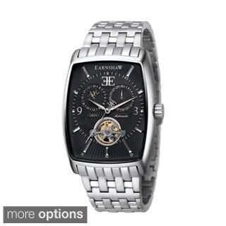 Earnshaw 'Robinson' Men's 3-hand Stainless Steel Rectangular Watch