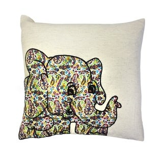 16 x 16-inch Elephant Patchwork Baby Pillow (India)
