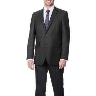 Profile Men's Charcoal 2-button Slim Suit