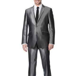 Profile Men's Grey Shark 2-button Slim Suit