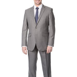 Profile Men's Grey 2-button Slim Suit