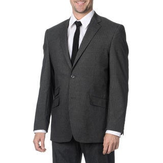 Perry Ellis Men's Medium Grey Striped Suit Separate Vest